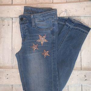 Vigoss Girls Distressed Skinny Jeans, Size 10